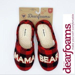 DEARFOAMS Mama Bear Memory Foam Slippers